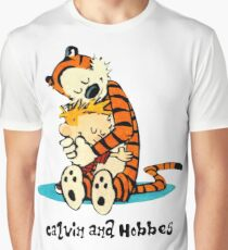 Hug Calvin and Hobbes Graphic T-Shirt