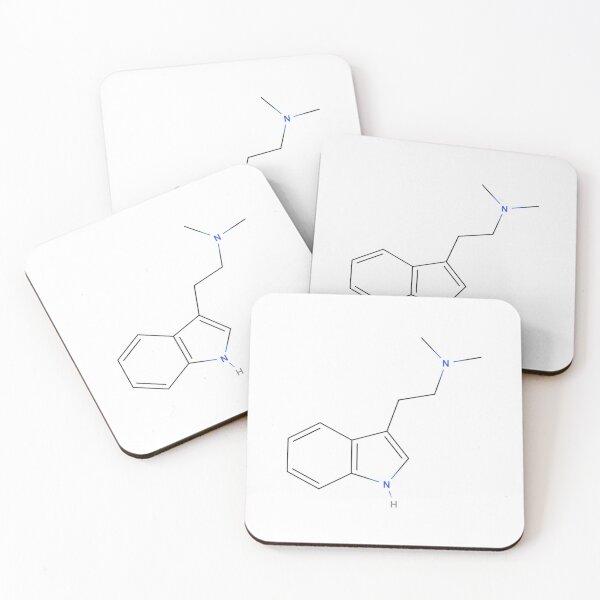 DMT Psychedelic molecule Coasters (Set of 4)
