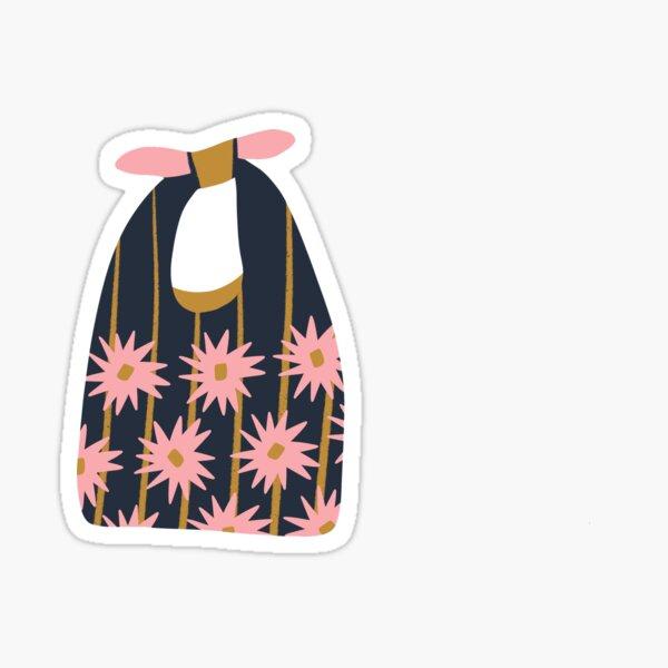 Stofftasche mit Blumen Sticker