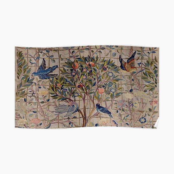William Morris Kelmscott Trellis Embroidery Poster