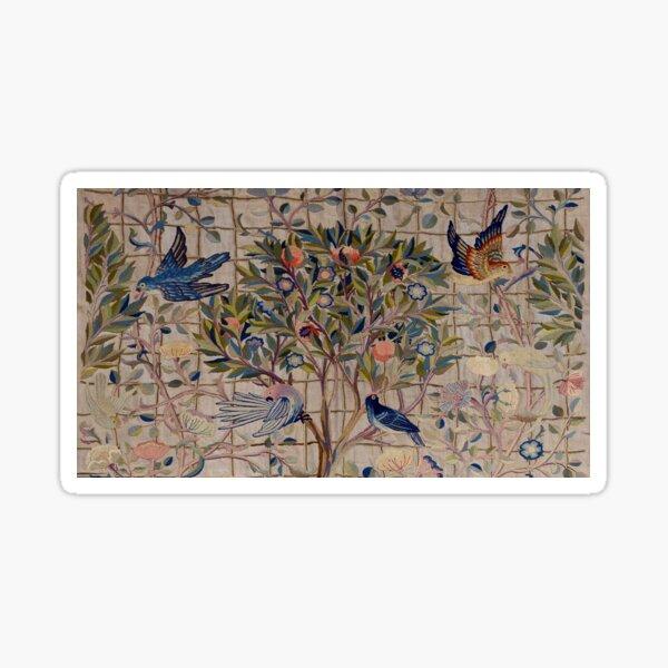 William Morris Kelmscott Trellis Embroidery Sticker