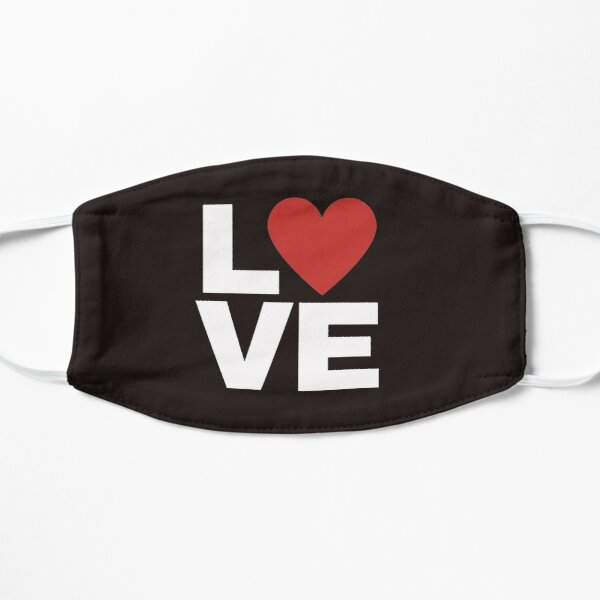 Love with red heart Mask