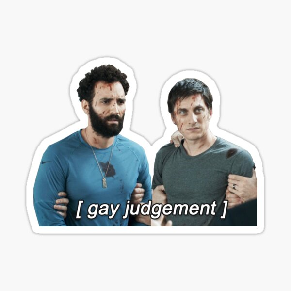 nicky and joe [gay judgement] - the old guard Sticker