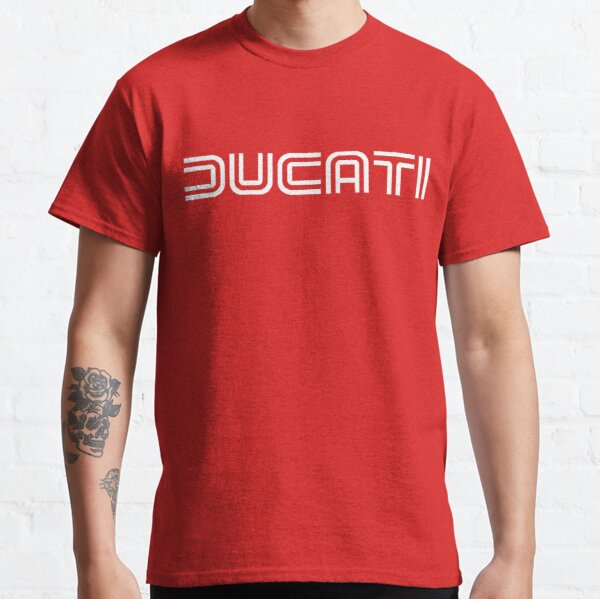 70's Retro Ducati Shirt, Sticker, Hoodie, Mask Classic T-Shirt