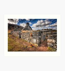 The Ruined Blackhouse Art Print