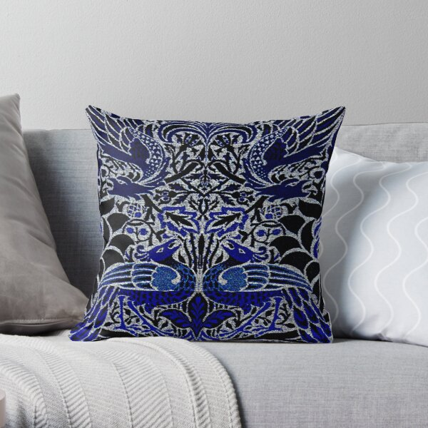 William Morris Peacock And Dragon Throw Pillow
