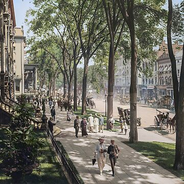 Broadway in Saratoga Springs, New York, ca 1915 (full size) by SannaDullaway
