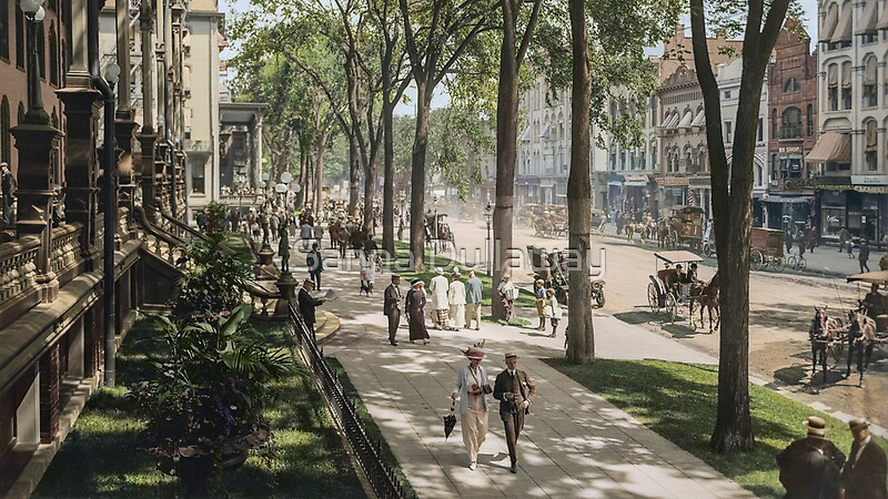 Quot Broadway In Saratoga Springs New York Ca 1915 16 9