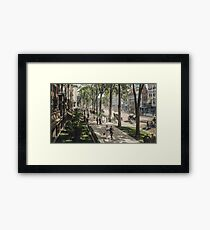 Broadway in Saratoga Springs, New York, ca 1915 (16:9 crop)  Framed Print