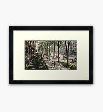 Broadway in Saratoga Springs, New York, ca 1915 (16:9 crop)  Framed Print