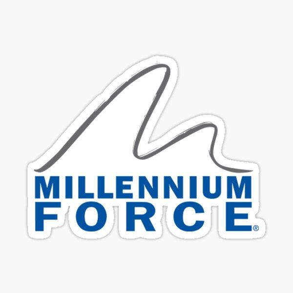Millennium Force Logo Sticker