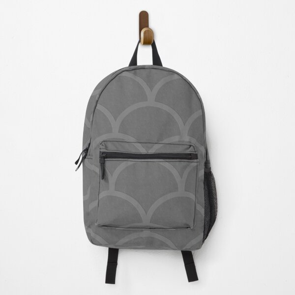 Grey Scalloped Shaped Pattern Backpack