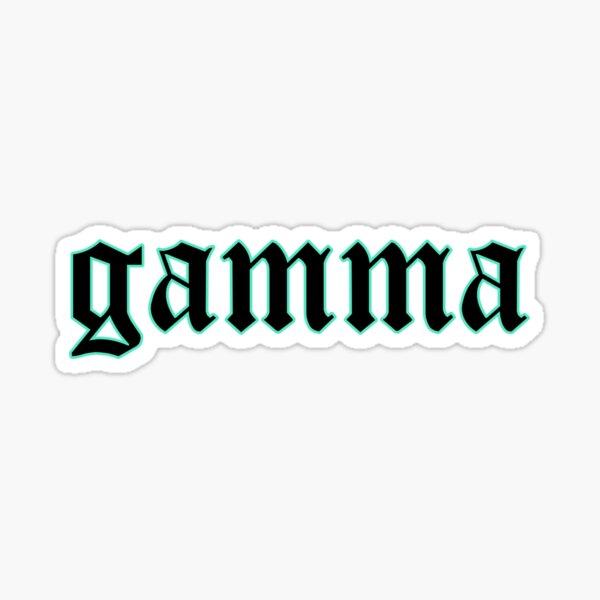 gamma gothic Sticker