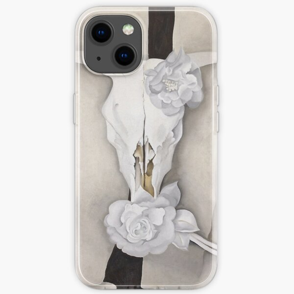 Georgia O'Keeffe - Crâne de vache avec des roses Calico Coque souple iPhone