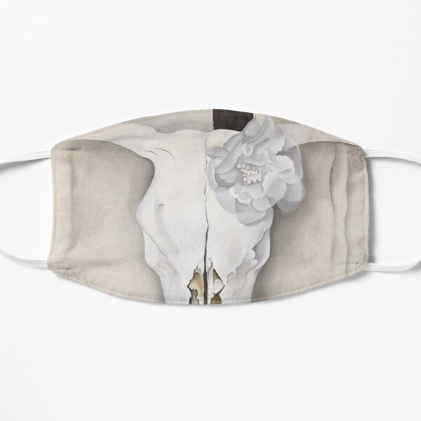 Georgia O'Keeffe - Cow's Skull with Calico Roses  Mask