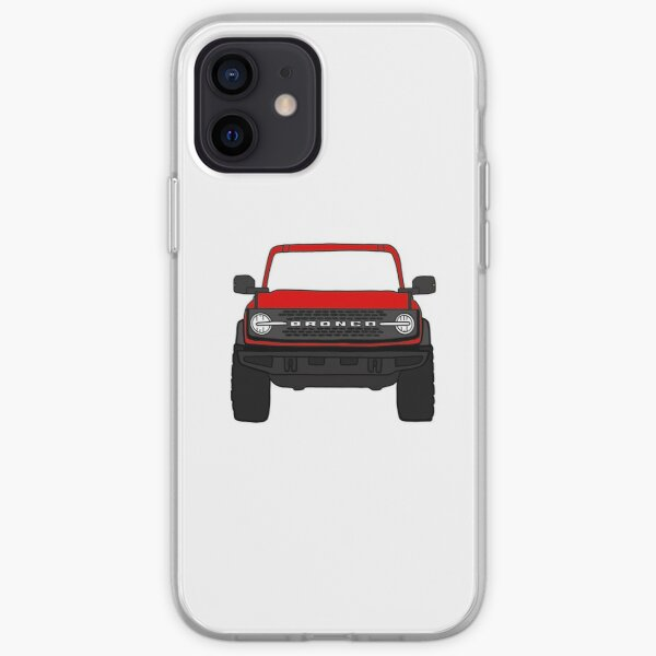 Red Ford Bronco iPhone Soft Case