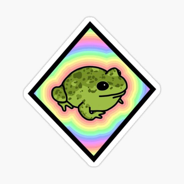 Diamond Pastel Frog Sticker