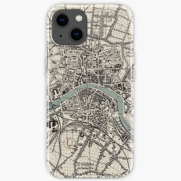 Vintage Map of Pisa Italy (1943) iPhone Soft Case