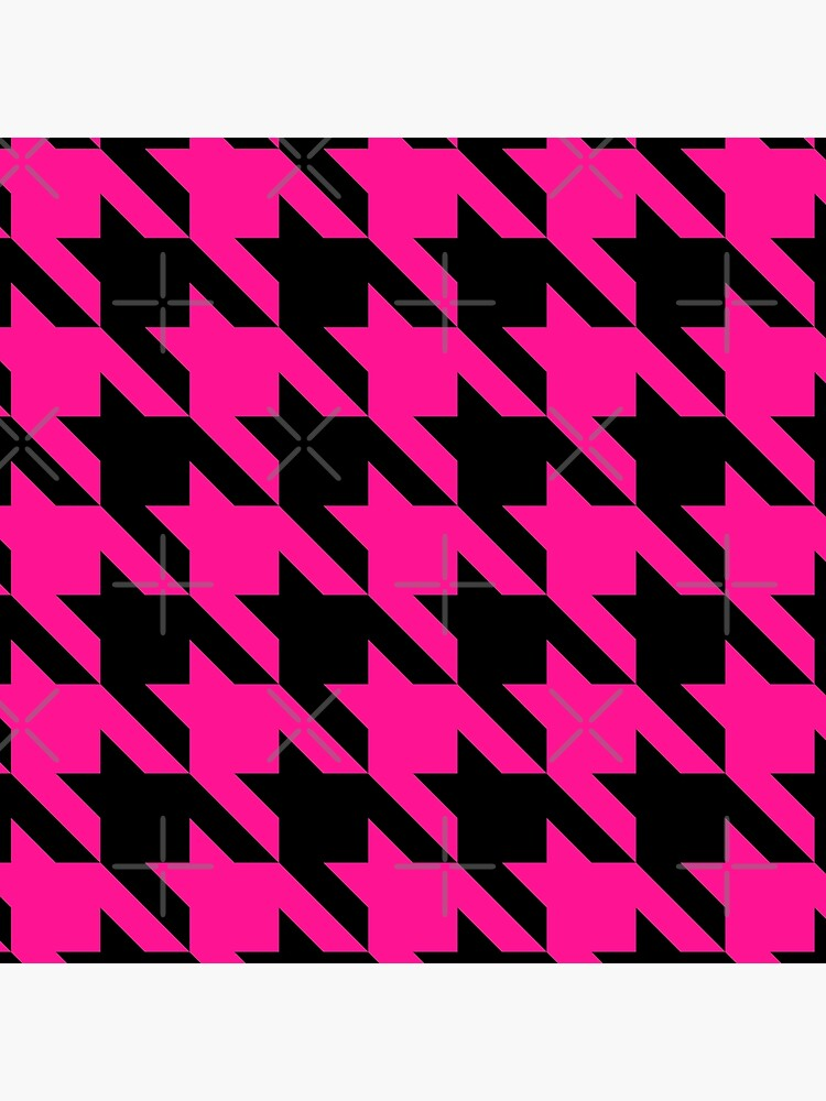 pink houndstooth  by gossiprag