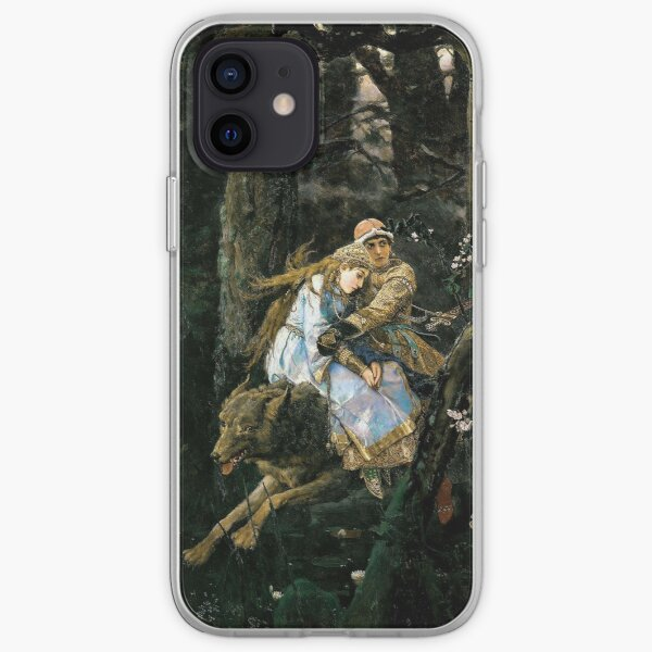 Ivan Tsarevich riding the Gray Wolf - Viktor Vasnetsov iPhone Soft Case