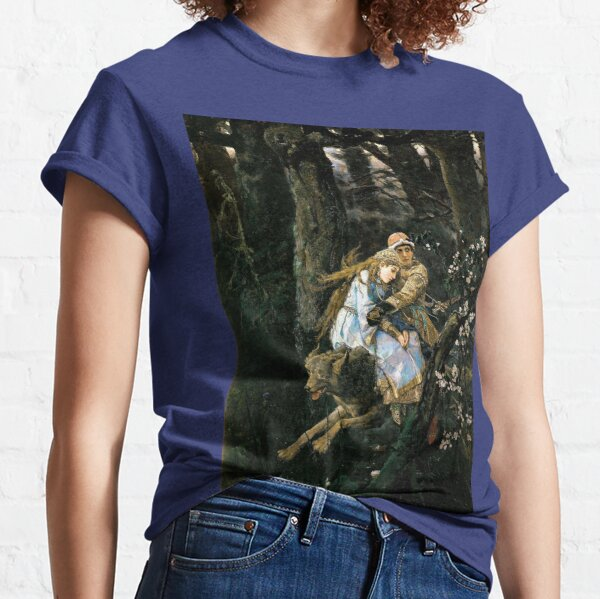 Ivan Tsarevich riding the Gray Wolf - Viktor Vasnetsov Classic T-Shirt
