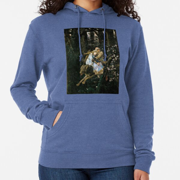 Ivan Tsarevich riding the Gray Wolf - Viktor Vasnetsov Lightweight Hoodie