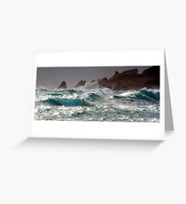 the deep green sea Greeting Card