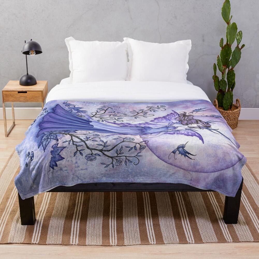 The Night Garden Throw Blanket