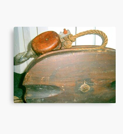 Old Boat Pulley Canvas Print