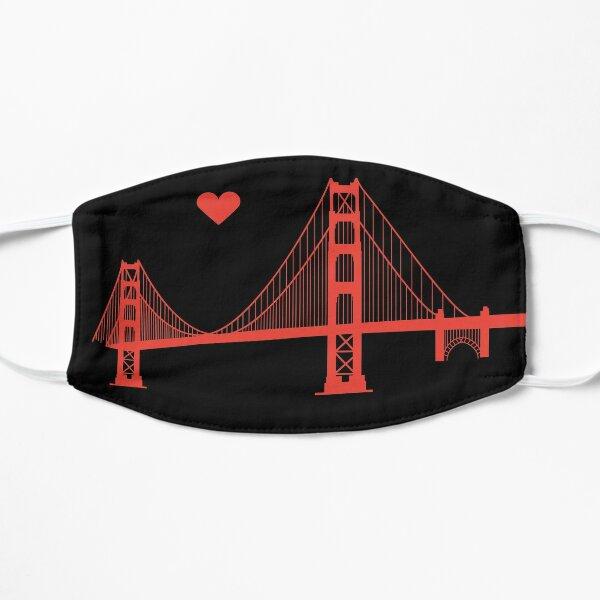 California Loves Our Golden Gate Bridge Flat Mask