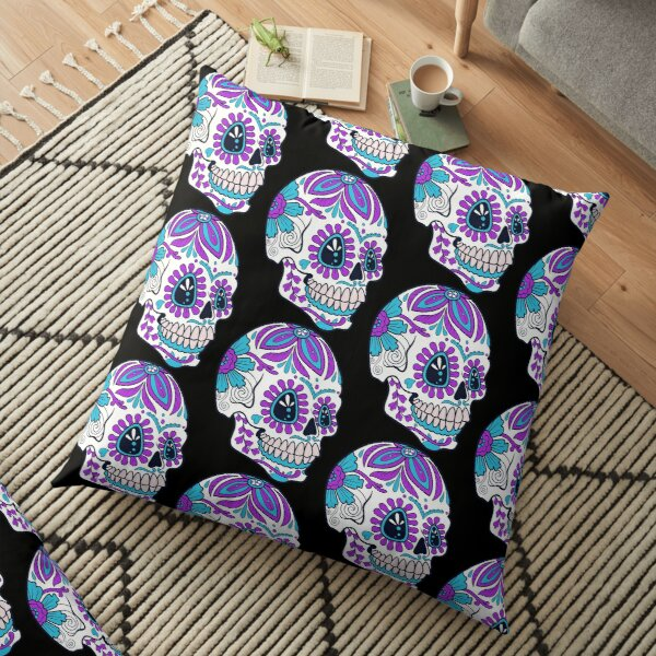 Candy skull Floor Pillow