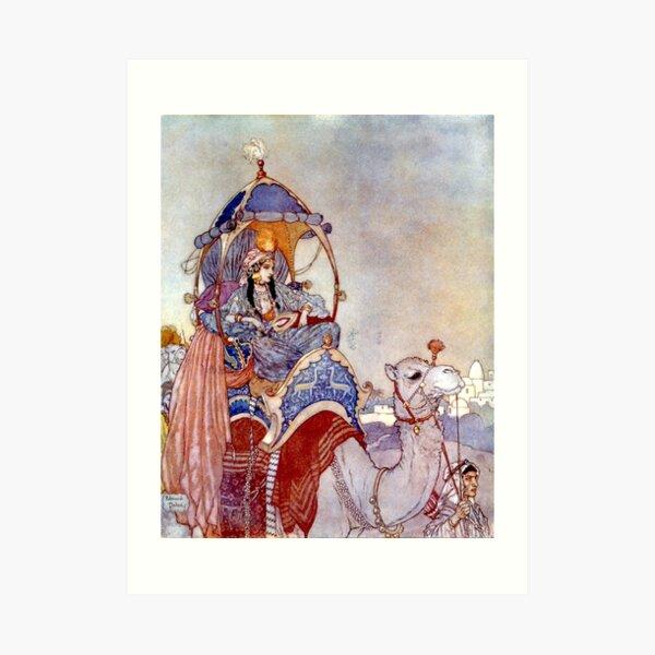 The Queen of Sheba - Arabian Nights - Edmund Dulac Art Print