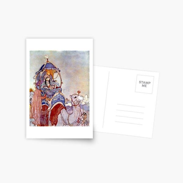 The Queen of Sheba - Arabian Nights - Edmund Dulac Postcard