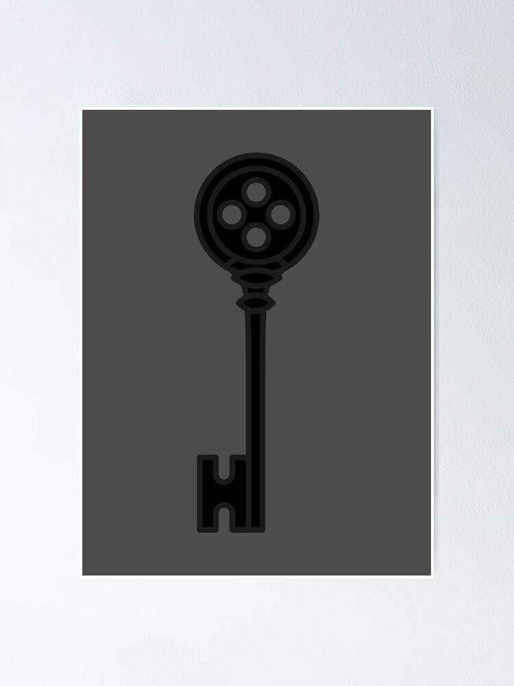Coraline Key Skeleton Props Neil Gaiman Promotional Poster By Starstacks Redbubble