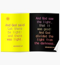 And God said, Let there be light. . . Poster