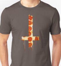 Upside Down Cross Pizza Slim Fit T-Shirt