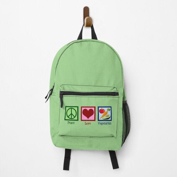 Peace Love Vegetarian Backpack