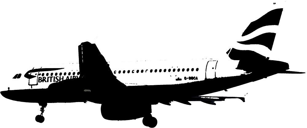 BA A320 B&W by DrTigrou