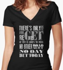 RENT No Day but Today Women's Fitted V-Neck T-Shirt