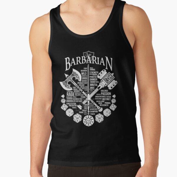 RPG Class Series: Barbarian - White Version Tank Top