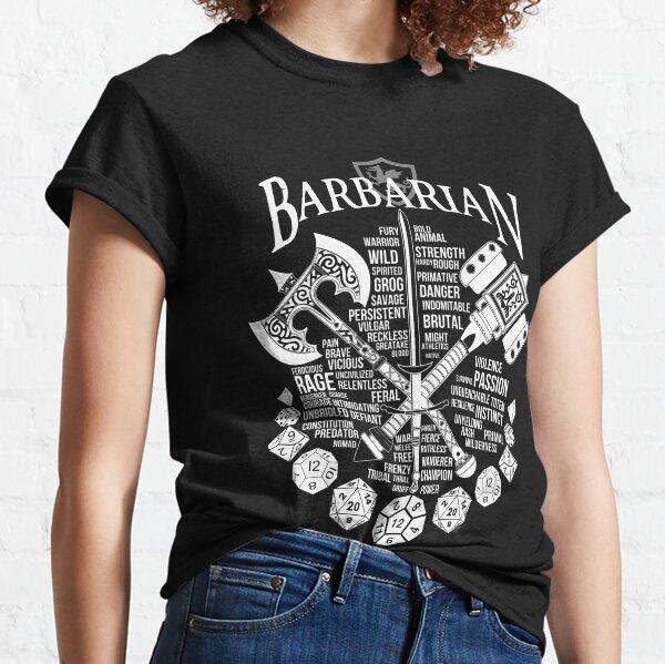 RPG Class Series: Barbarian - White Version Classic T-Shirt