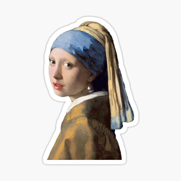 The Girl With A Pearl Earring Sticker