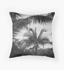 View Through The Palms I BW Throw Pillow