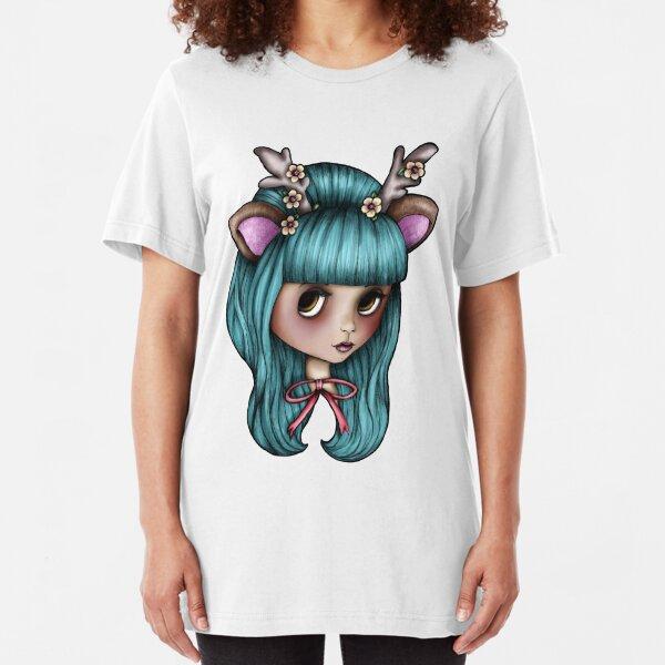 Deer Blythe Doll Slim Fit T-Shirt