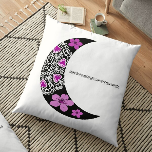None but ourselves can free our mind Floor Pillow