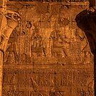 Edfu Temple Detail by Nigel Fletcher-Jones
