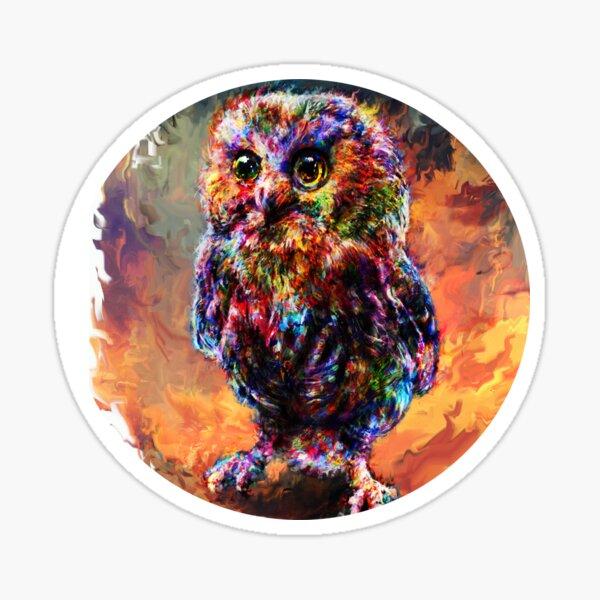 brave little owl Sticker