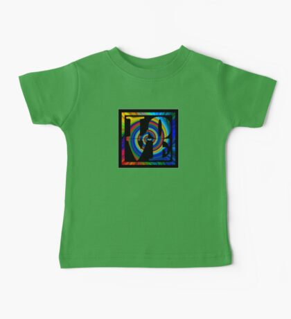 retro color spiral square love t (small front) Kids Clothes