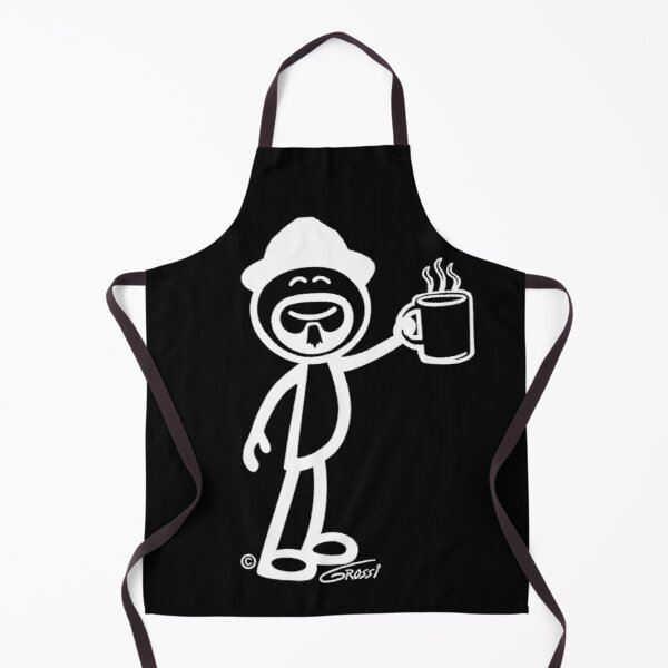 GG Coffee Guy Stick Figure (For Darker Clothing) Apron