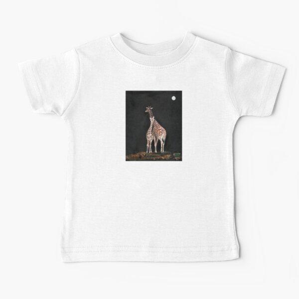 Giraffe Love, multimedia fine art paintings, beautiful  exotic animal art from African savanna,  Baby T-Shirt